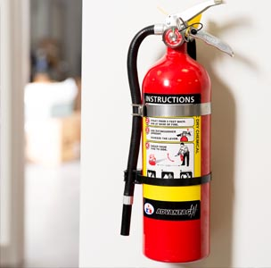 carwash trailer fire extinguisher