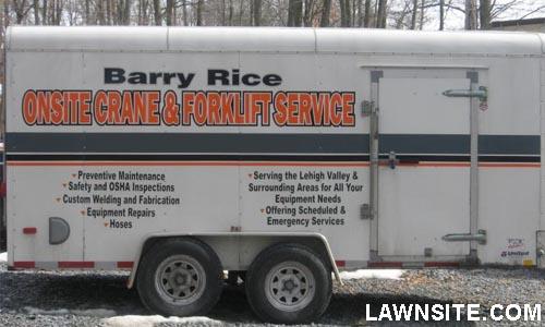 detailing trailer custom lettering
