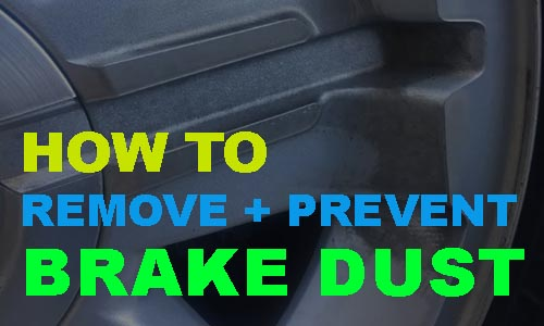 how to remove and prevent brake dust