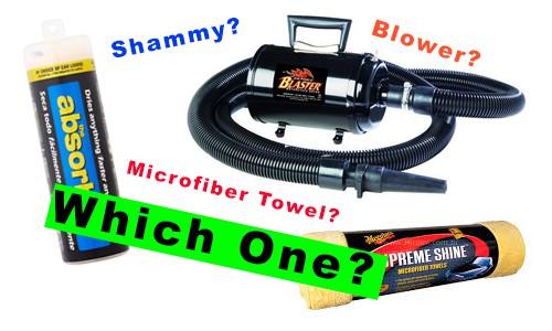 Car Drying - Chamois vs Microfiber Towel vs Blower