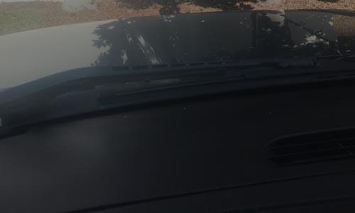 offgas haze on windshield