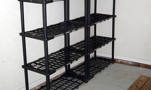 garage shelving for detailing products
