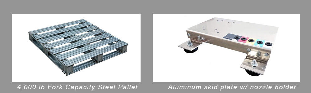 pressure washer steel mount