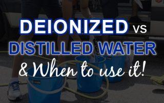 deionized vs distilled water for detailing