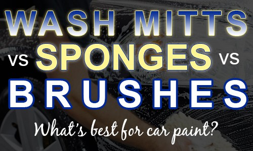wash mitts vs sponges vs brushes - what's best for car paint