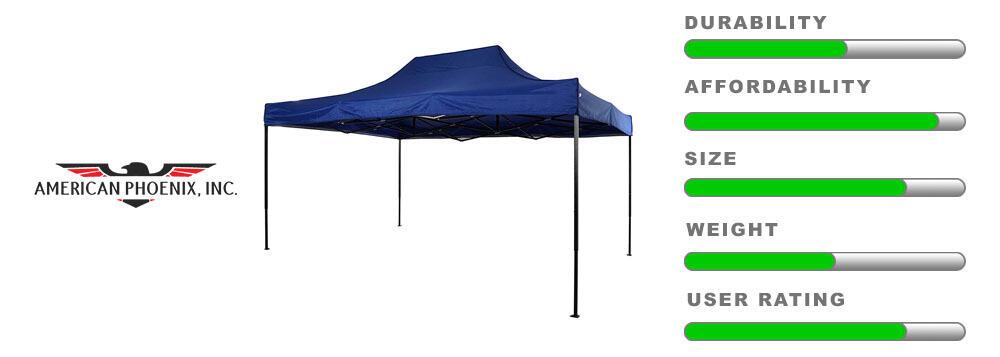 american phoenix 10x15 canopy large detailing tent