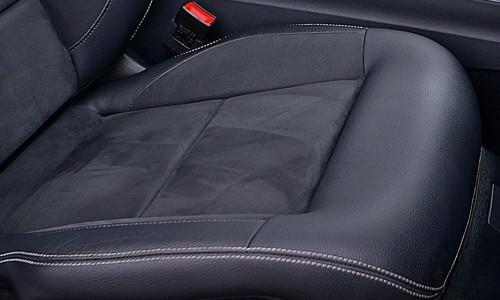 clean seams in between seats