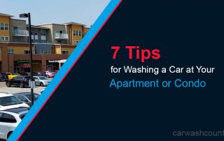 Washing a Car at Your Condo or Apartment