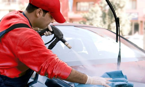 car wash business man