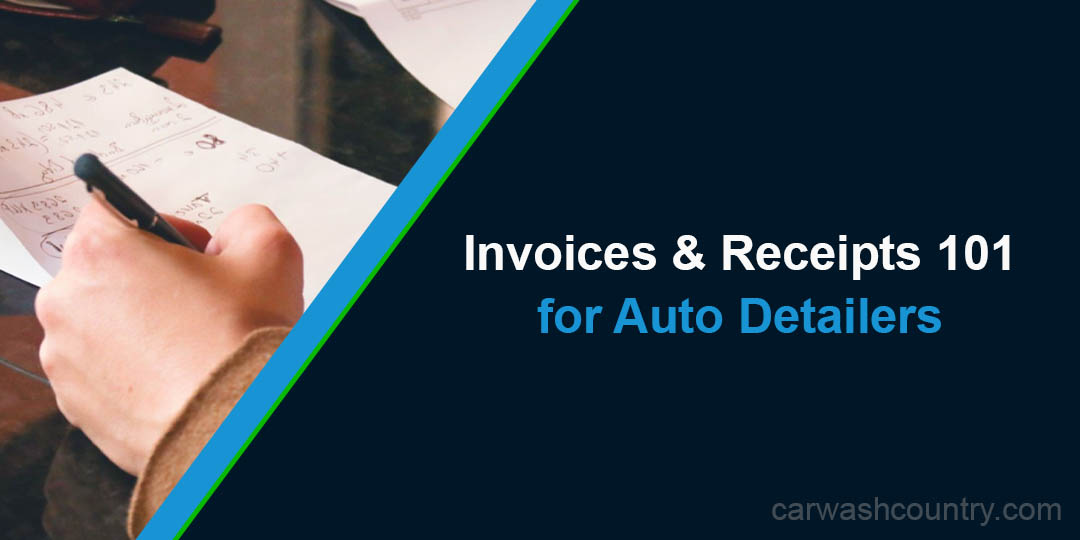auto detailing invoices and receipts