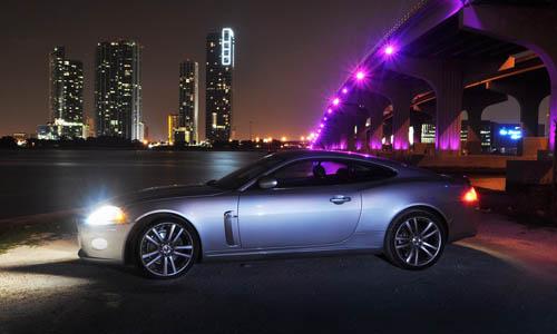 nighttime photography car