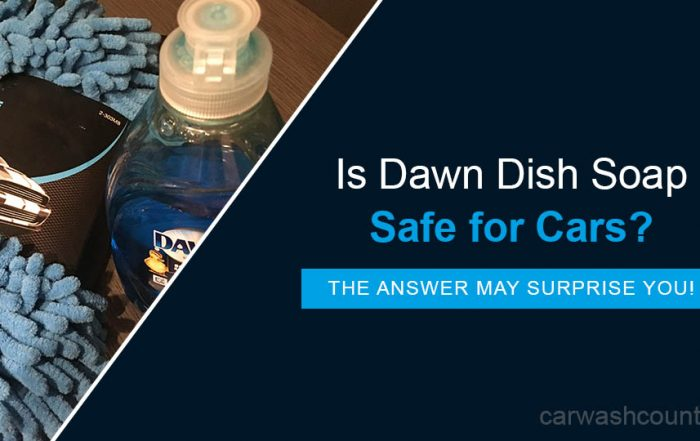 Dawn dish soap safe for cars