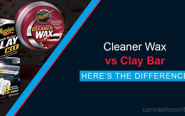 cleaner wax vs clay bar difference