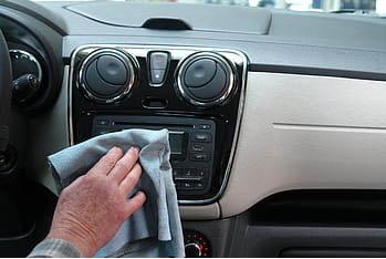 dusting car interior
