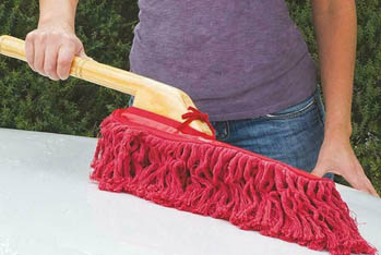 dusting exterior of car