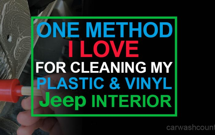 cleaning jeep plastic and vinyl interior