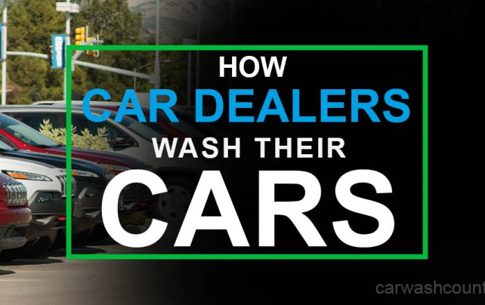 how car dealerships wash their cars