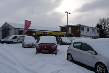 snow removal car dealership