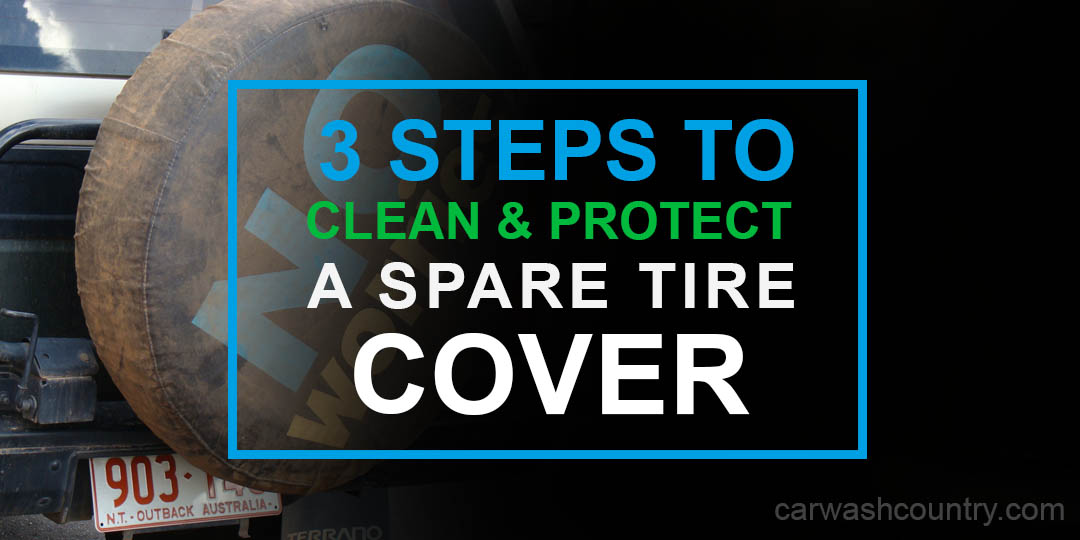 how to clean spare tire cover