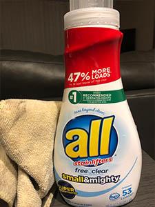 safe detergent for microfiber towels